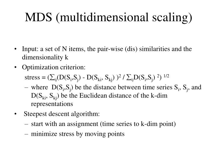 MDS (multidimensional scaling)