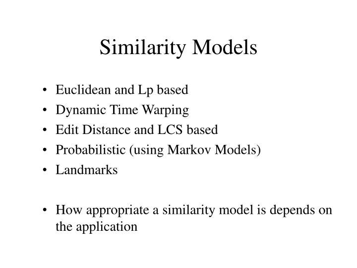Similarity Models