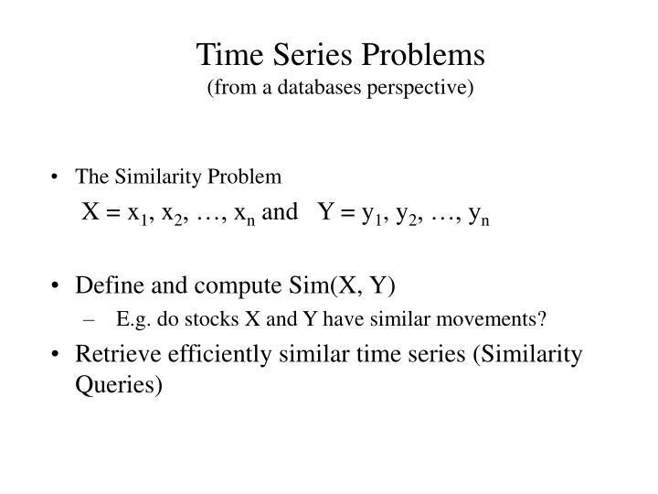 Time series problems from a databases perspective