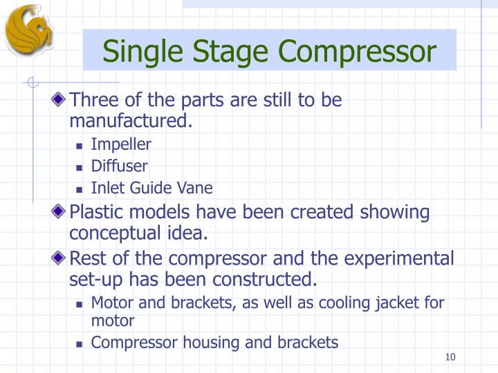 Single Stage Compressor