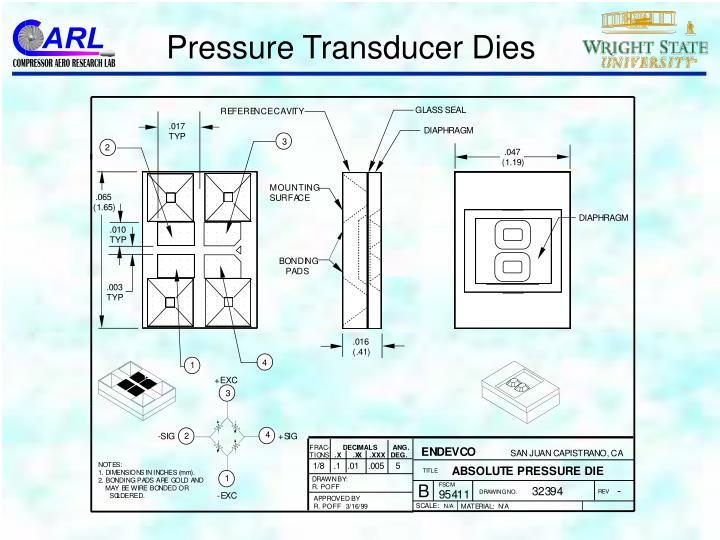 Pressure Transducer Dies