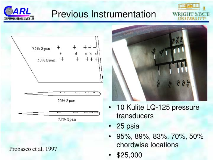 Previous Instrumentation