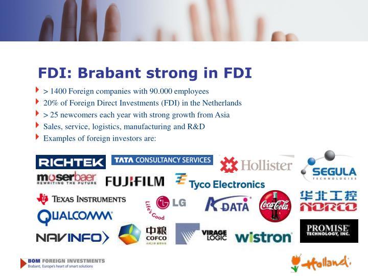 FDI: Brabant strong in FDI