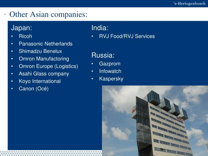 Other Asian companies: