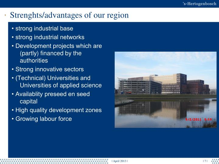 Strenghts/advantages of our region