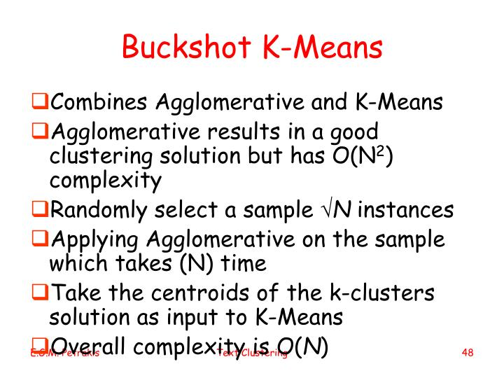 Buckshot K-Means