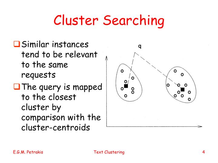 Cluster Searching