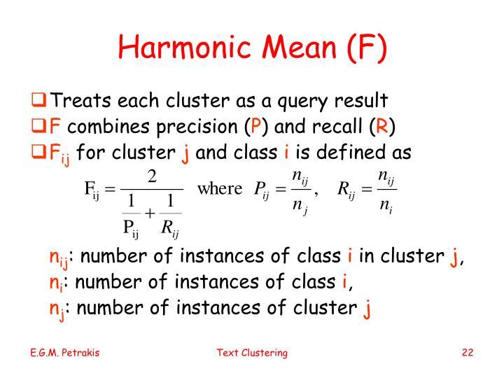 Harmonic Mean (F)