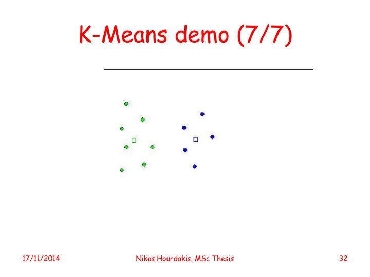 K-Means demo (7/7)