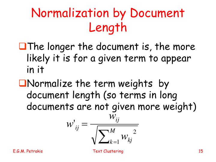 Normalization by Document Length
