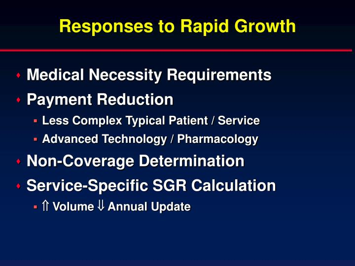 Responses to Rapid Growth