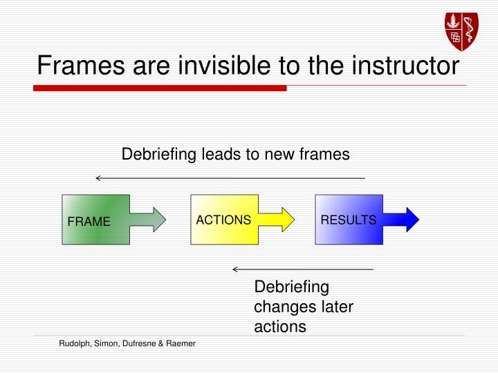 Frames are invisible to the instructor