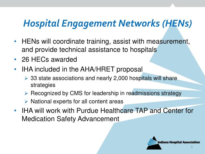 Hospital Engagement Networks (HENs)
