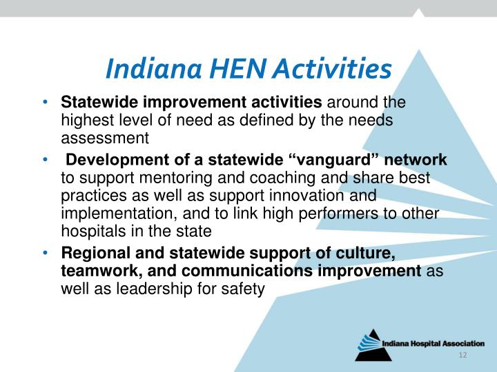 Indiana HEN Activities