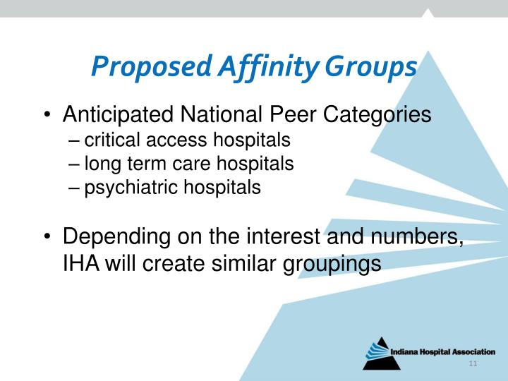 Proposed Affinity Groups