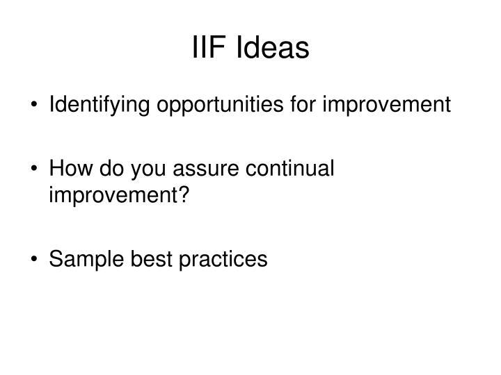 Iif ideas1