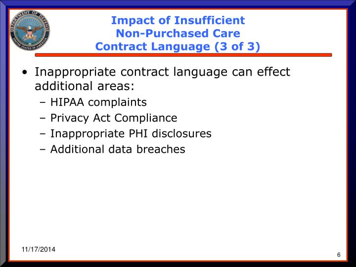 Impact of Insufficient