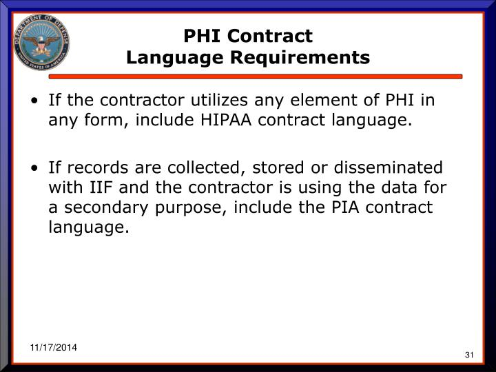 PHI Contract