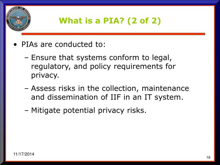 What is a PIA? (2 of 2)