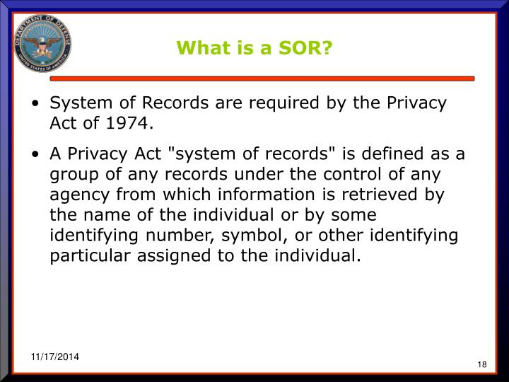 What is a SOR?