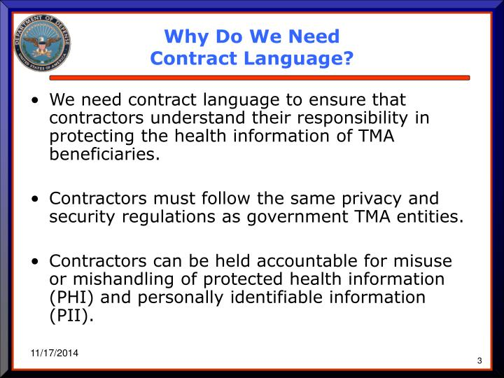 Why do we need contract language