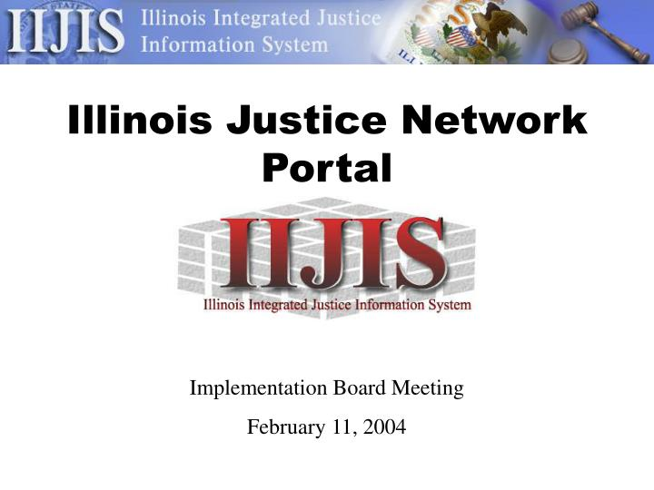 illinois justice network portal n.