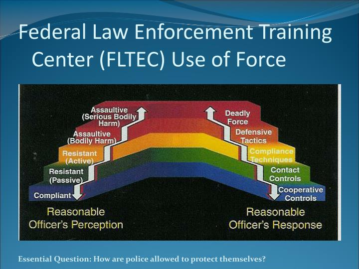 Federal law enforcement training center fltec use of force