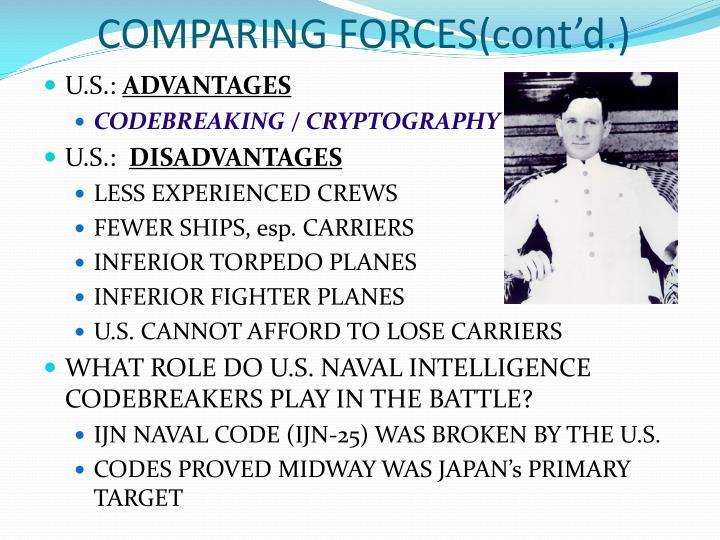 COMPARING FORCES(cont'd.)
