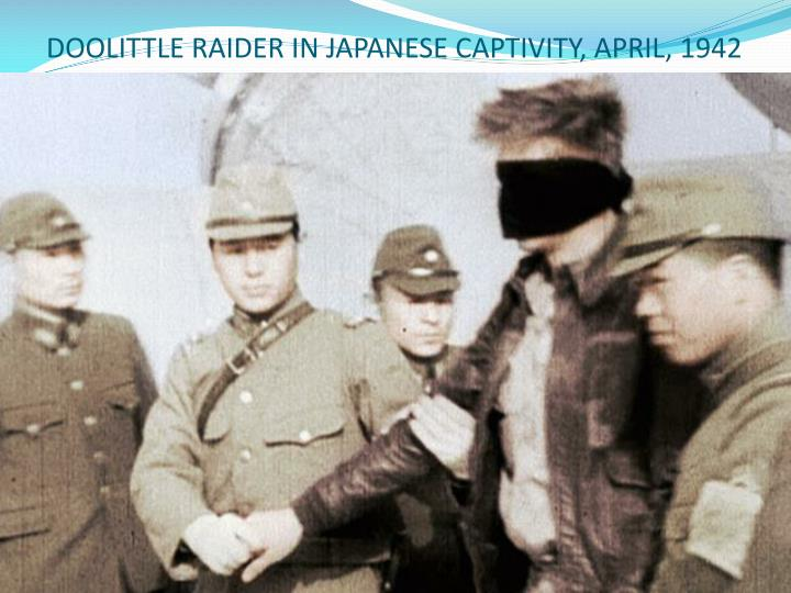 DOOLITTLE RAIDER IN JAPANESE CAPTIVITY, APRIL, 1942