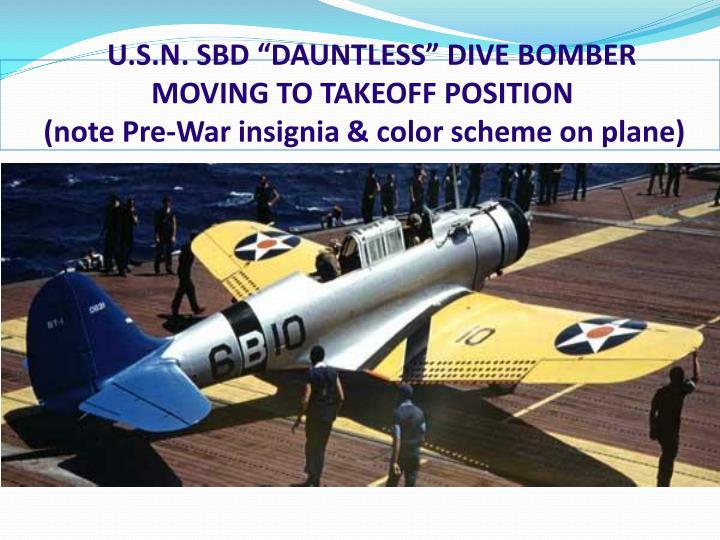 """U.S.N. SBD """"DAUNTLESS"""" DIVE BOMBER"""