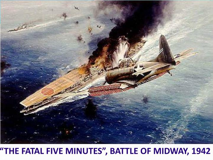 """""""THE FATAL FIVE MINUTES"""", BATTLE OF MIDWAY, 1942"""