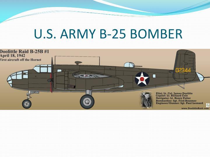 U.S. ARMY B-25 BOMBER