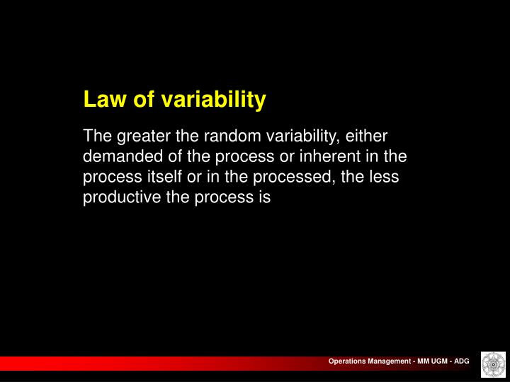 Law of variability