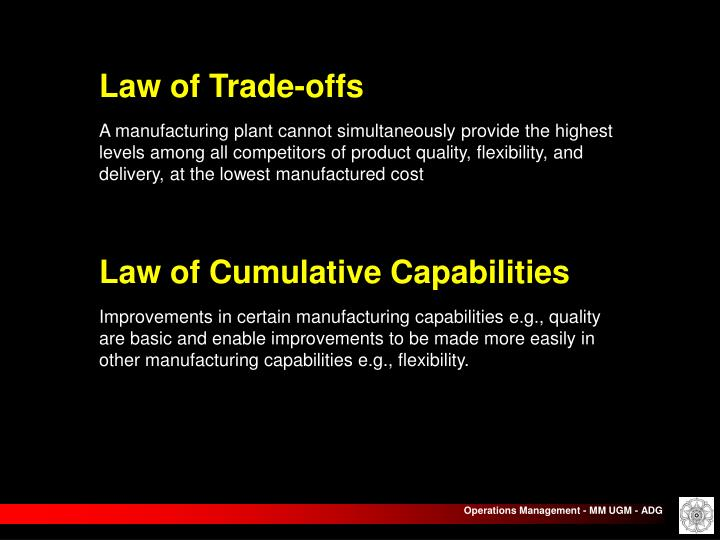 Law of Trade-offs
