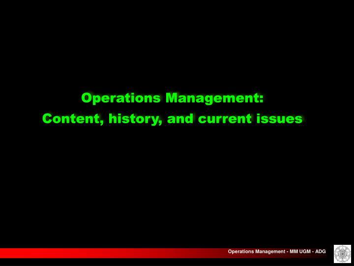 Operations Management: