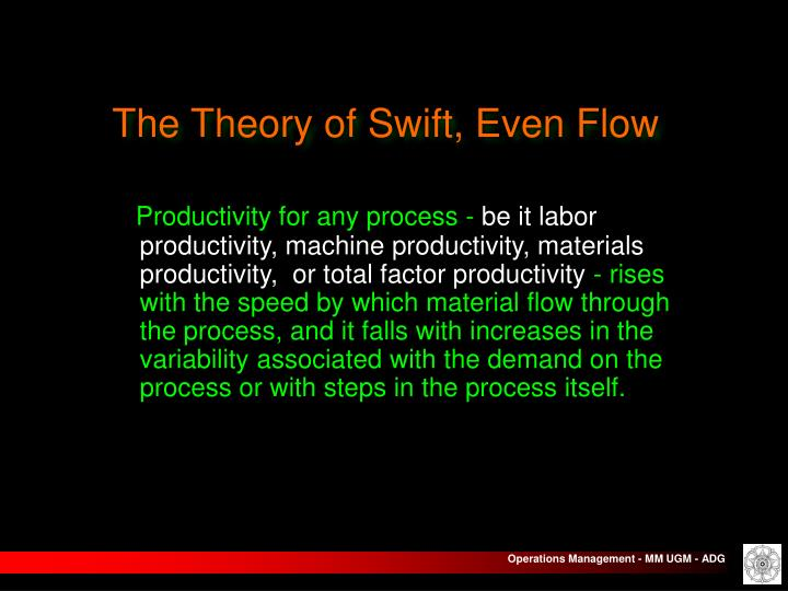 The Theory of Swift, Even Flow