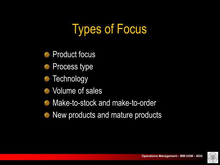 Types of Focus