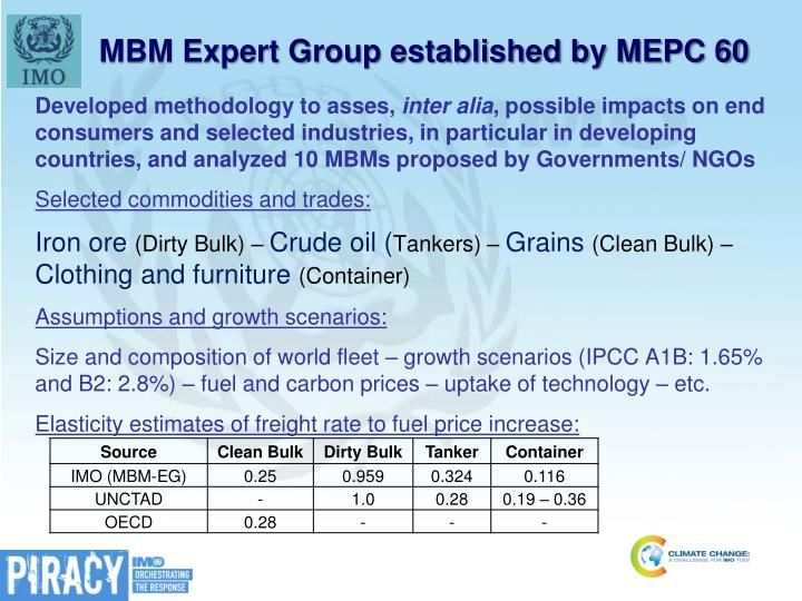 MBM Expert Group established by MEPC 60
