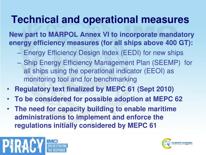 Technical and operational measures