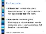 performantie