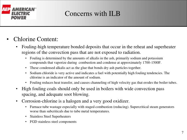 Concerns with ILB