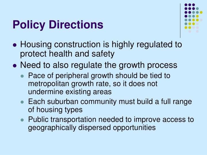 Policy Directions