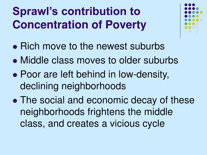 Sprawl's contribution to Concentration of Poverty