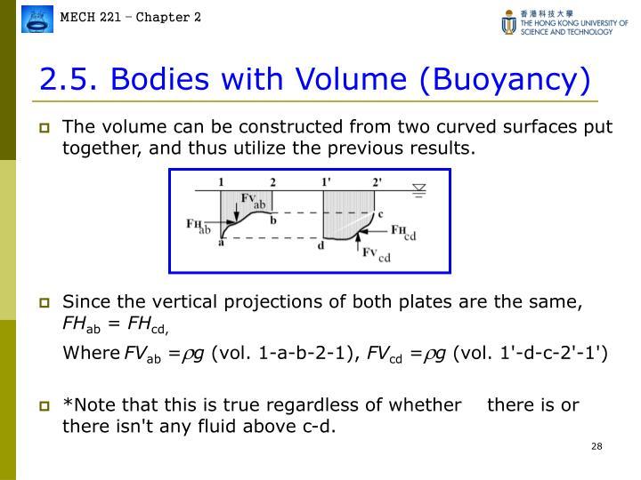 2.5. Bodies with Volume (Buoyancy)