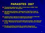 parasites 2007