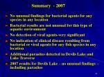 summary 2007