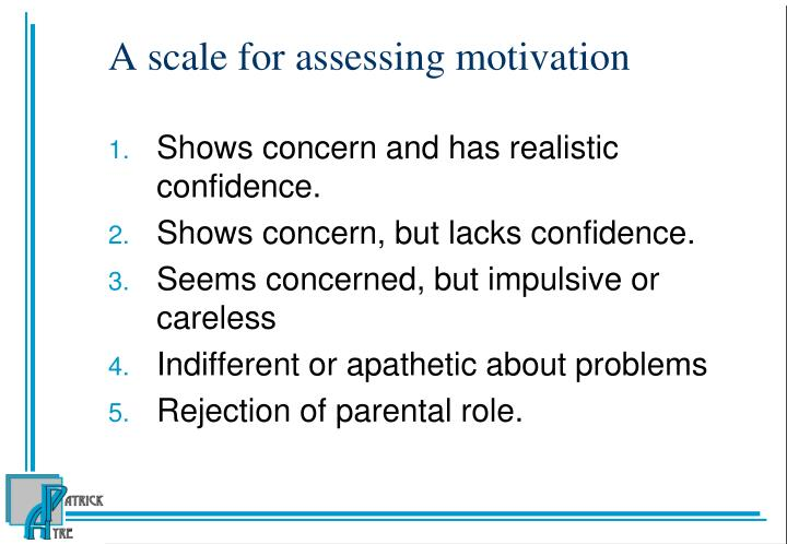 A scale for assessing motivation