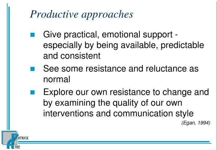 Productive approaches