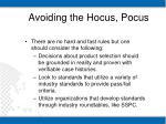 avoiding the hocus pocus