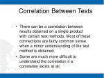 correlation between tests